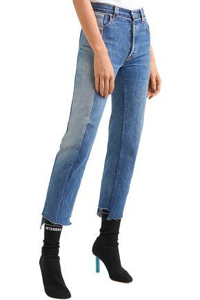 VETEMENTS + Levi's high-rise straight-leg jeans