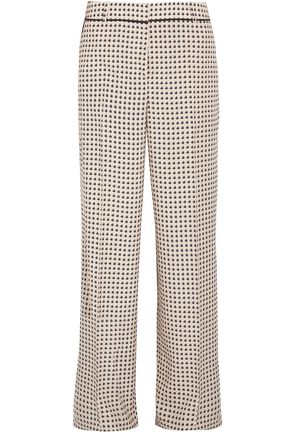 BOTTEGA VENETA Printed silk crepe de chine wide-leg pants