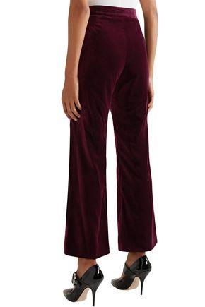 STELLA McCARTNEY Cropped velvet flared pants