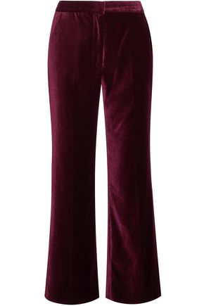 STELLA McCARTNEY Cropped velvet flared pants