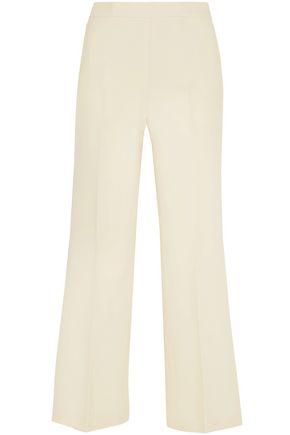 FENDI Cropped wool and silk-blend gazar wide-leg pants