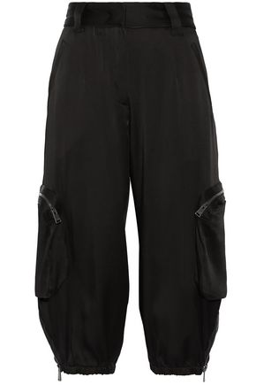 FENDI Cropped sateen tapered pants