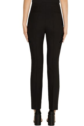 GIVENCHY Flocked wool-twill skinny pants