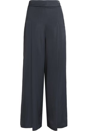 HOUSE OF DAGMAR Satin wide-leg pants