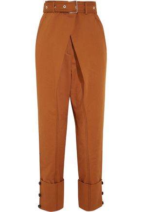 PROENZA SCHOULER Belted cotton-twill tapered pants