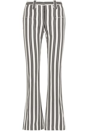 ALTUZARRA Striped wool-blend flared pants