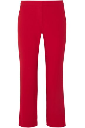 ALTUZARRA Cropped crepe straight-leg pants