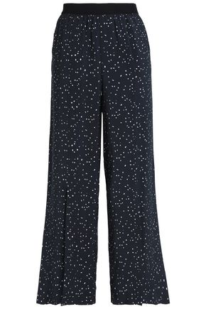 HOUSE OF DAGMAR Printed crepe wide-leg pants