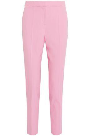 OSCAR DE LA RENTA Wool-blend gabardine straight-leg pants