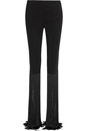 EMILIO PUCCI Fringe-trimmed cady slim-leg pants