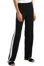 LANVIN Hammered satin-paneled cady straight-leg pants