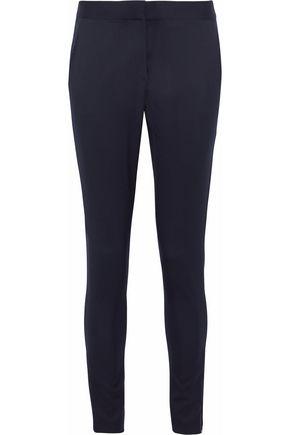 STELLA McCARTNEY Zip-detailed wool-twill skinny pants