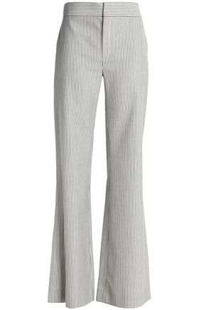 CHLOÉ Striped wool-blend flared pants