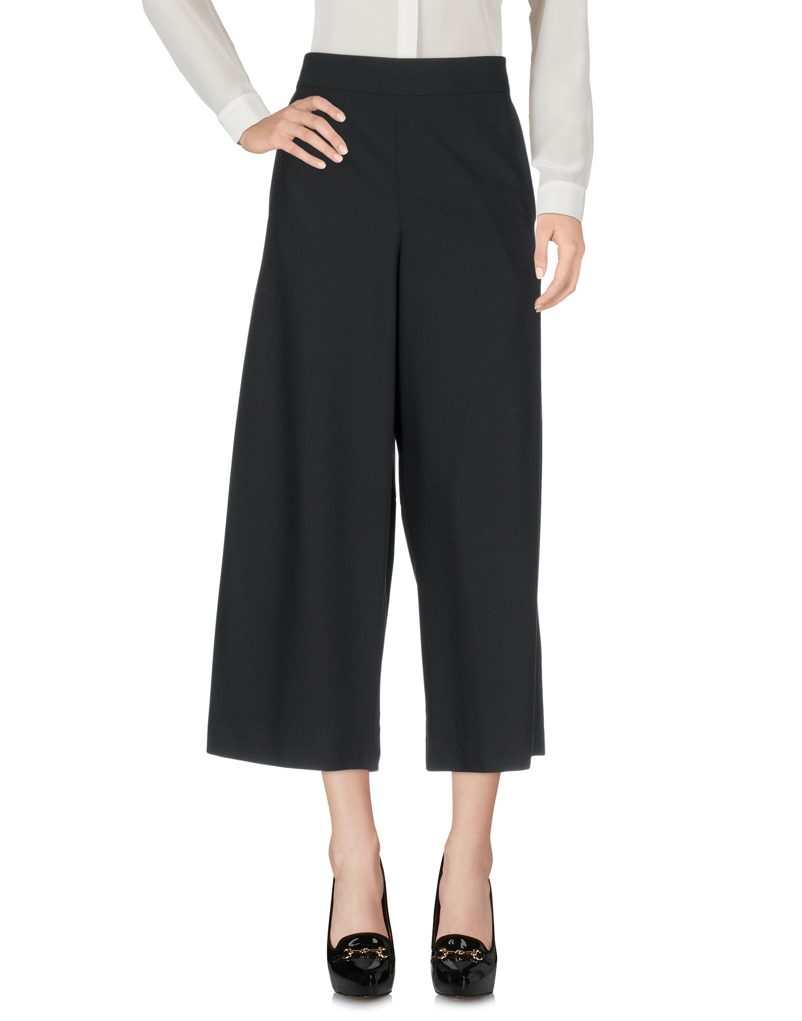 Cropped Pants & Culottes in Black