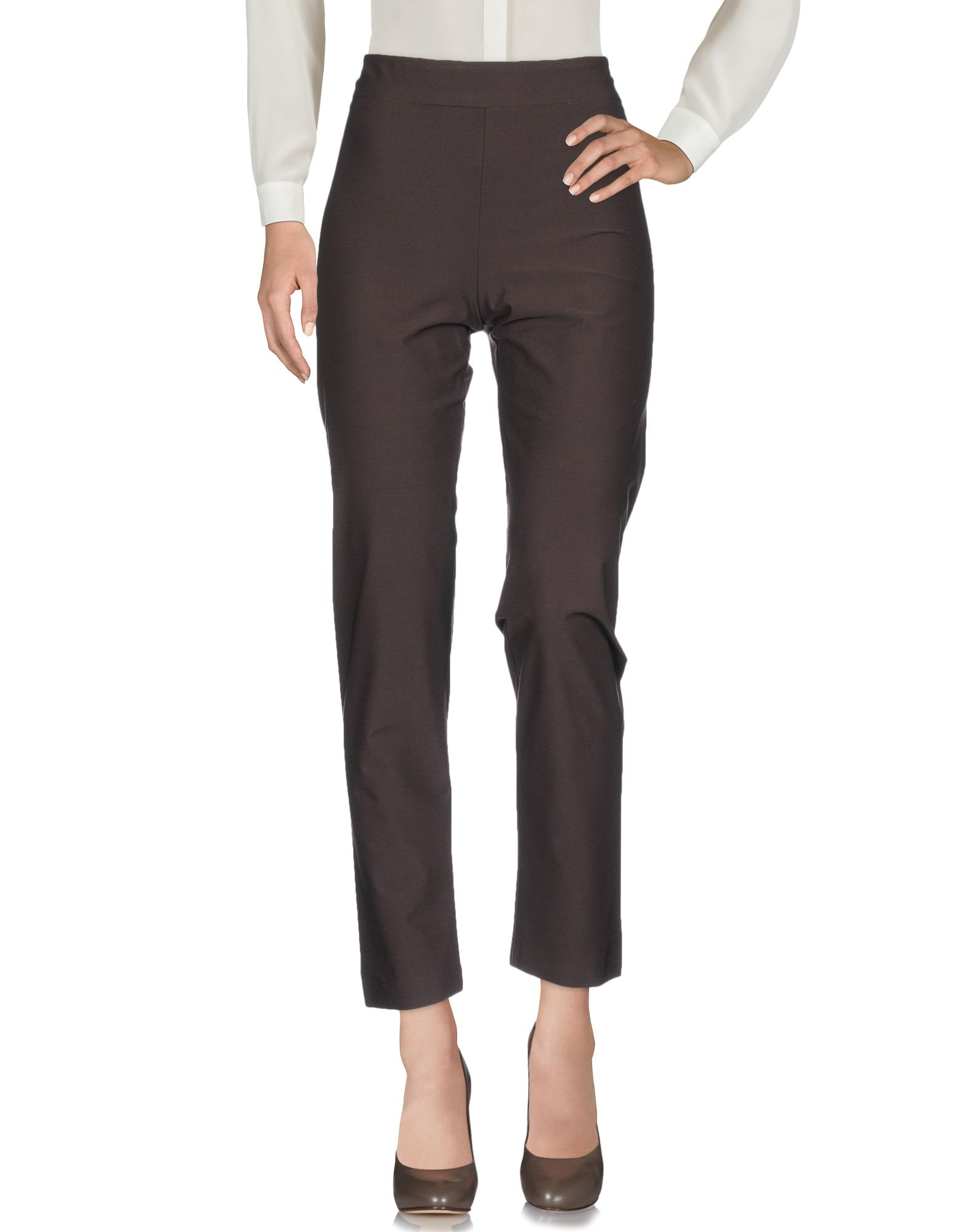 AVENUE MONTAIGNE Cropped Pants & Culottes in Dark Brown