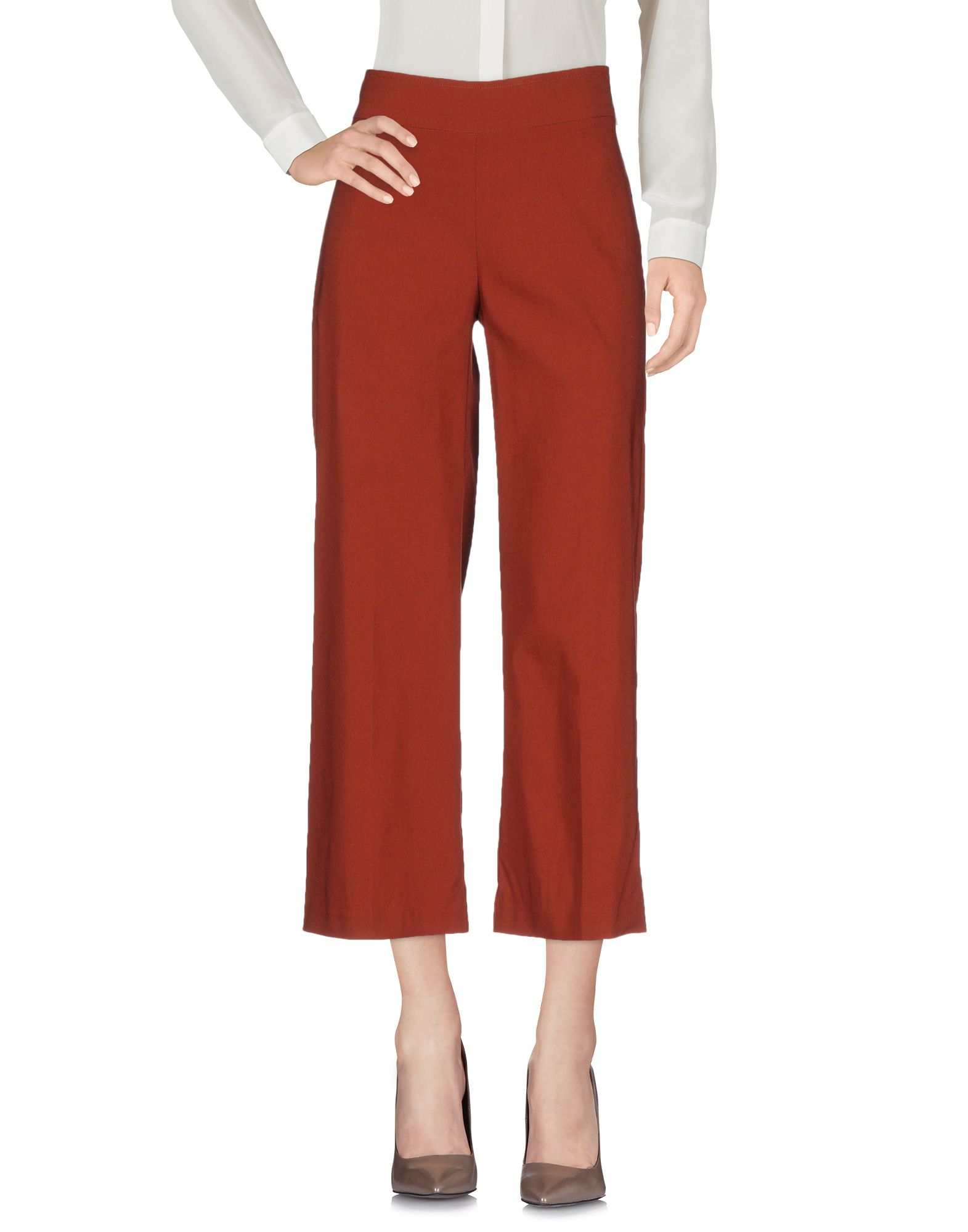 AVENUE MONTAIGNE Cropped Pants & Culottes in Brown