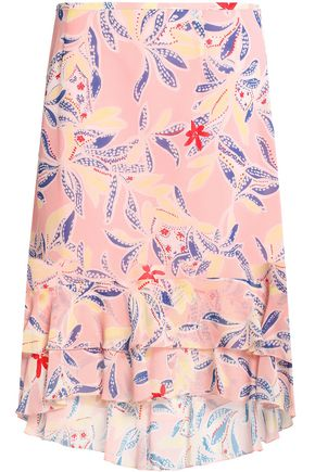 SEE BY CHLOÉ Floral-print silk crepe de chine skirt