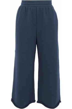 T by ALEXANDER WANG Cropped cotton-blend jersey track pants
