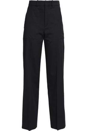 Wool And Cotton Blend Twill Straight Leg Pants by ChloÉ