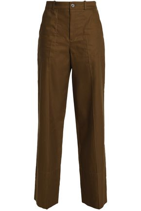 CHLOÉ Linen and cotton-blend twill straight-leg pants
