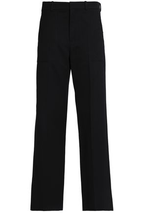 CHLOÉ Wool and cotton-blend twill straight-leg pants