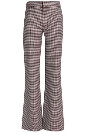 CHLOÉ Houndstooth wool-blend flared pants