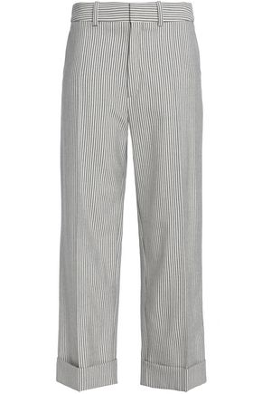 CHLOÉ Striped wool-blend straight-leg pants