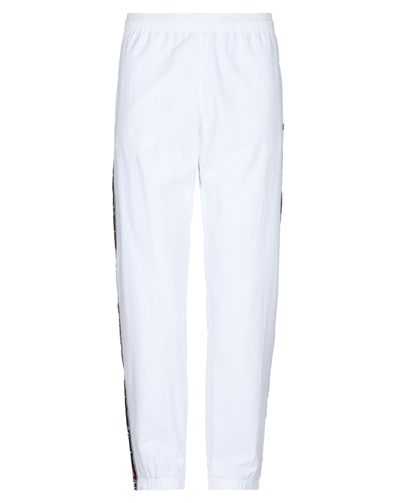 《セール開催中》CHAMPION REVERSE WEAVE メンズ パンツ ホワイト XS ナイロン 100% TAPED LOGO ELASTIC CUFF PANTS