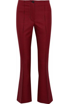 HELMUT LANG Houndstooth wool-blend kick-flared pants
