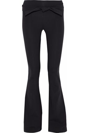 HELMUT LANG Belted stretch-knit flared pants