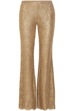 MICHAEL KORS COLLECTION Metallic corded lace flared pants