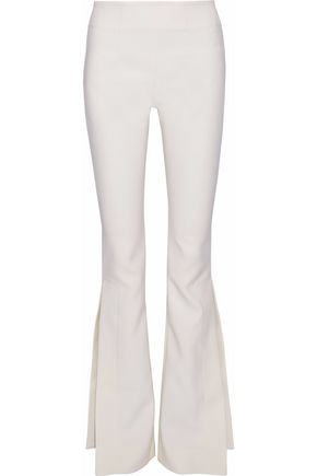 SOLACE LONDON Split crepe wide-leg pants