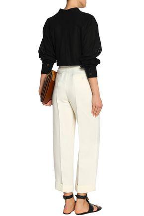 CHLOÉ Linen and silk-blend straight-leg pants
