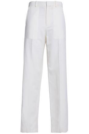 CHLOÉ Wool and cotton-blend twill straight-leg pants