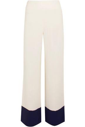 MAX MARA Two-tone crepe wide-leg pants