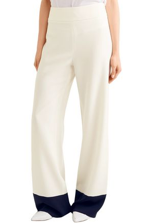 MAX MARA Two-tone crepe wide-leg pants
