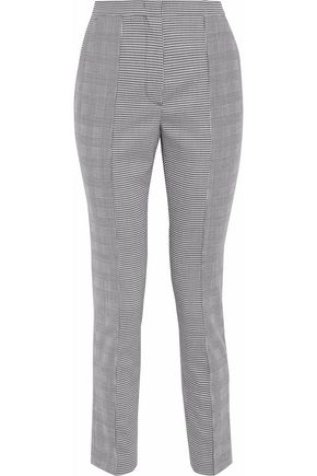 MSGM Cropped houndstooth cady slim-leg pants