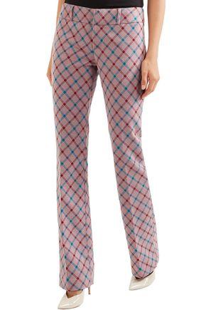 MARNI Checked brushed-twill bootcut pants