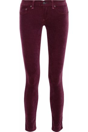 RAG & BONE Cotton-blend velvet skinny pants