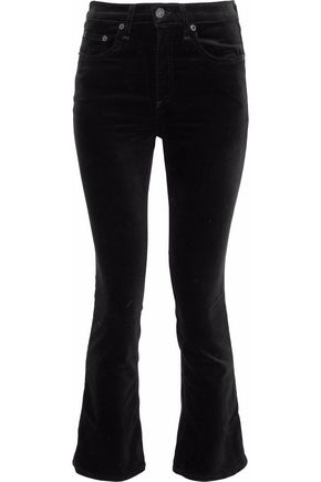 RAG & BONE Hana cotton-blend velvet kick-flare pants