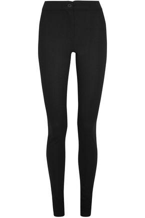 ANN DEMEULEMEESTER Wool-blend crepe skinny pants
