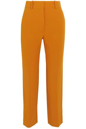 VICTORIA BECKHAM Cropped crepe straight-leg pants
