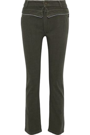 RTA Morton zip-trimmed high-rise slim-leg jeans