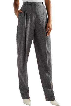 MICHAEL KORS COLLECTION Pleated wool and cashmere-blend tapered pants