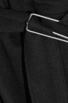 ANN DEMEULEMEESTER Belted jersey wide-leg pants