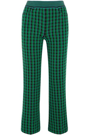 MISSONI Checked wool-blend bootcut pants