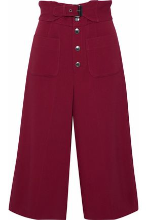 REDValentino Belted crepe culottes