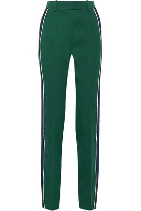 CALVIN KLEIN 205W39NYC Striped wool-twill straight-leg pants