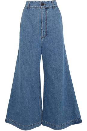 MARNI High-rise wide-leg jeans