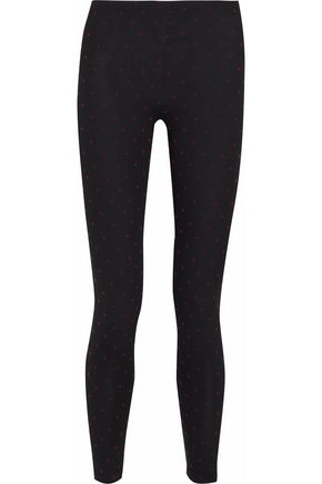 REDValentino Printed cotton-blend jersey leggings